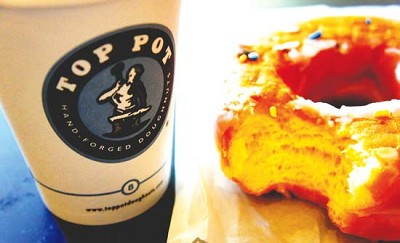 <p>Top Pot is now serving its famous doughnuts and coffee in South Lake Union. photo/Ronald Holden.</p>