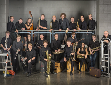 The St. Olaf Jazz Ensemble, with Wedgwood bassist Lise Ramaley (back row, third from left) will travel to Cuba in March to perform in concert. Photo courtesy of St. Olaf College