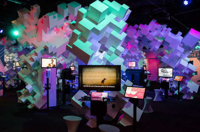 "EMP officials have renamed the EMP Museum MoPOP. Above, the gallery within ""Indie Game Revolution,"" one of several exhibits at the museum that have moved well beyond its original mission of preserving local music history."