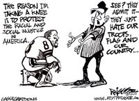 Priggee Cartoon: Taking a knee