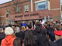 Students walk out of schools to protest gun violence in the wake of Florida shooting